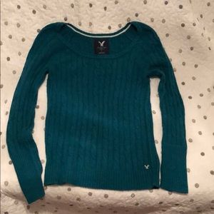American Eagle sweater teal large
